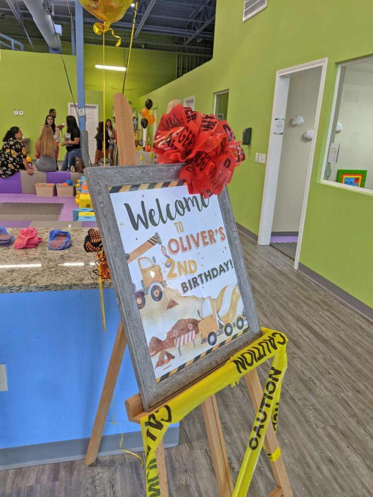 Construction Party Welcome Sign