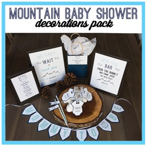 Mountain Baby Shower Party Decorations Pack A Touch of LA
