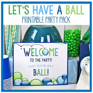 Let's Have A Ball Party Decorations Party Pack