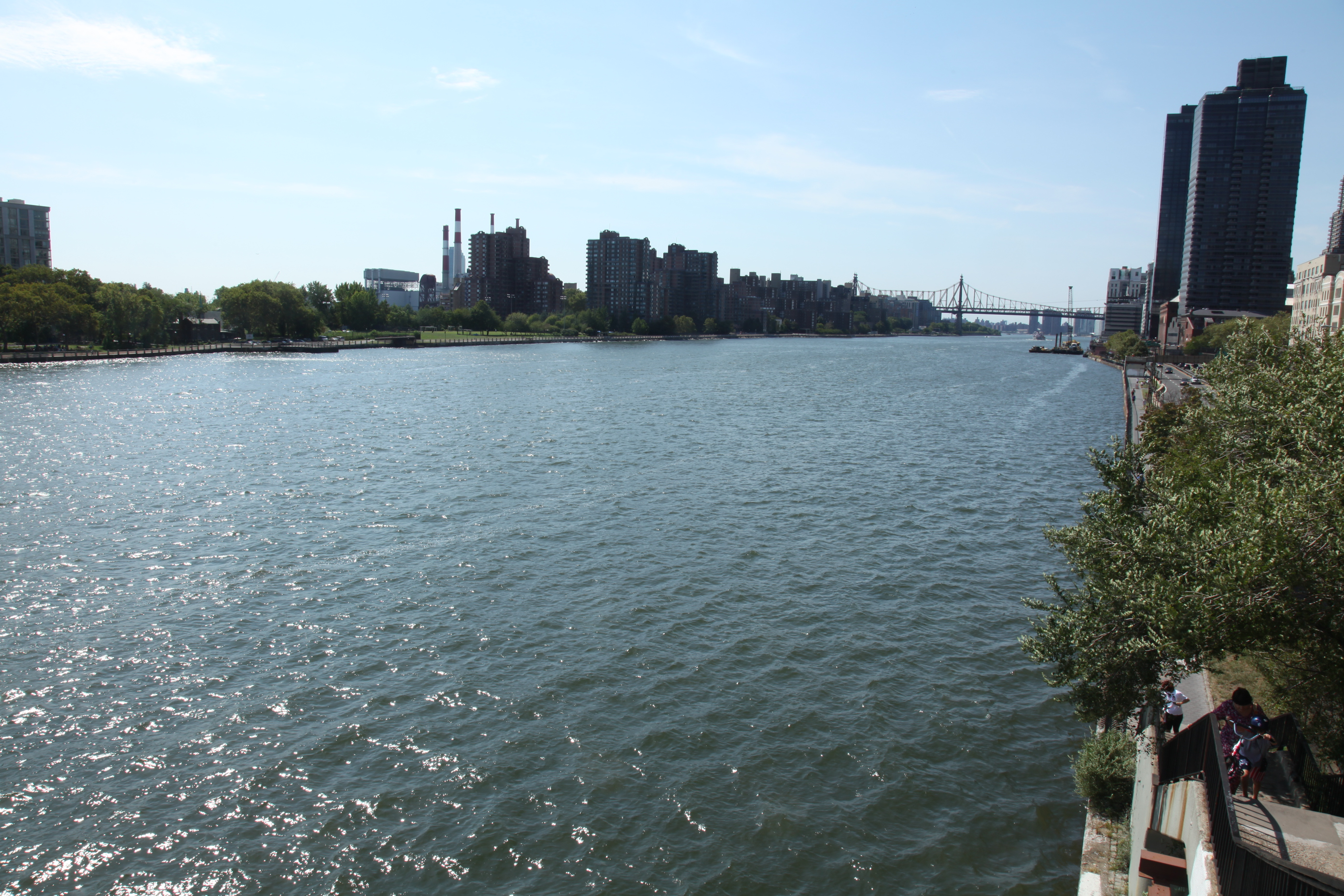 A view down the river from East 81st Street