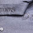Broderie Ton sur Ton - sur chemise