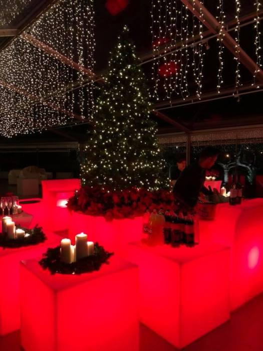 Evento en un pazo de Pontevedra - el espectacular árbol de Navidad