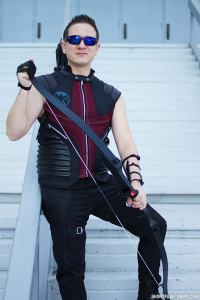 A to Z Cosplay as Hawkeye at Dragon Con