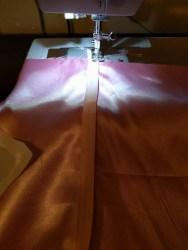 Adding bias tape for elastic casing