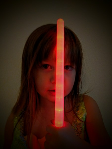 I had too much fun with her dark side and that red light saber