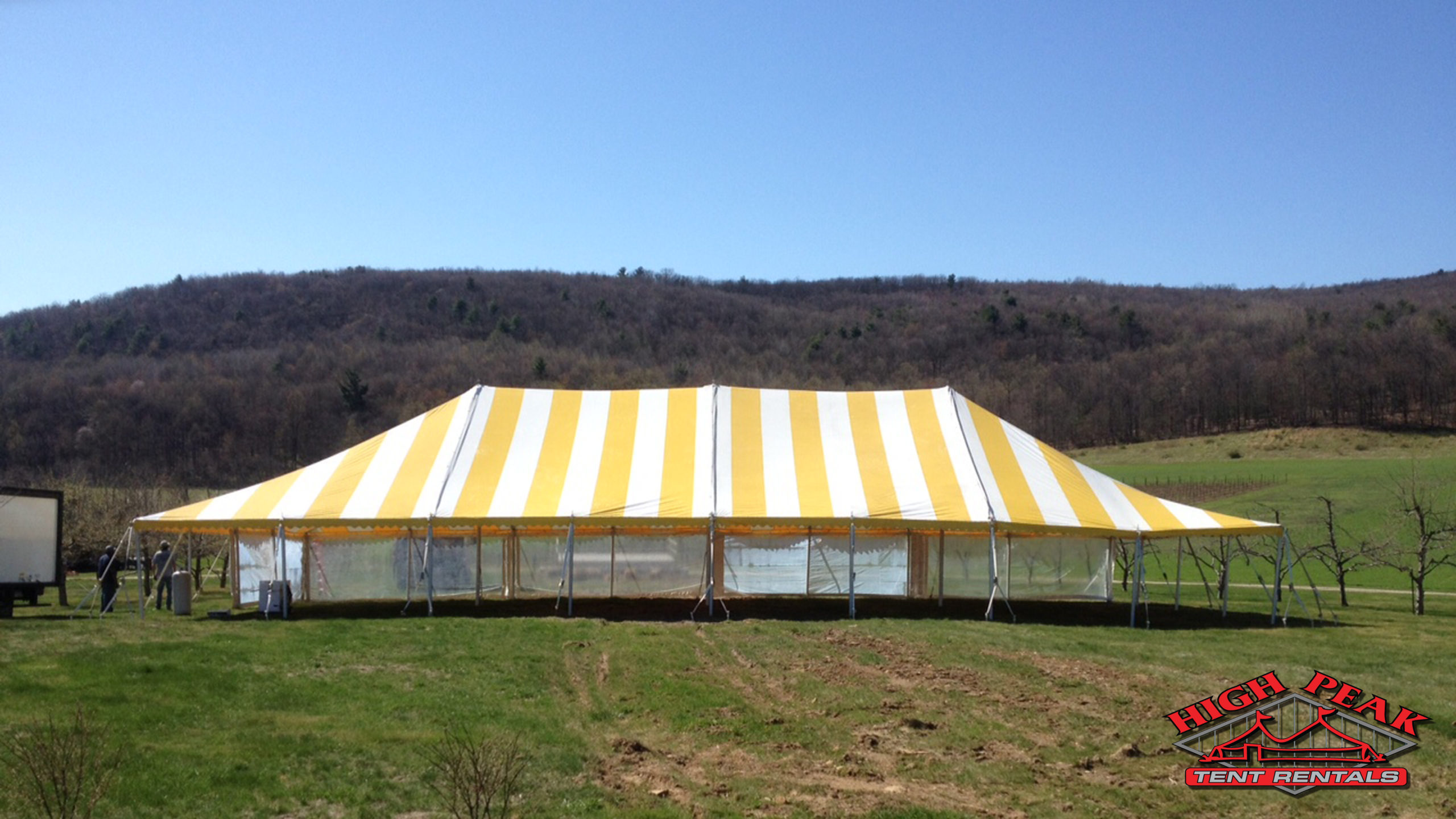 Image of Yellow Party Tent