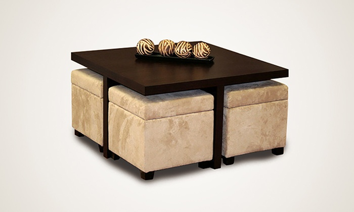 centre table with four stools from aed