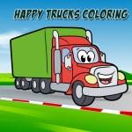 Happy Trucks Coloring