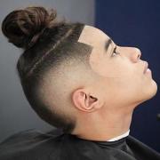 man bun 70 hairstyle