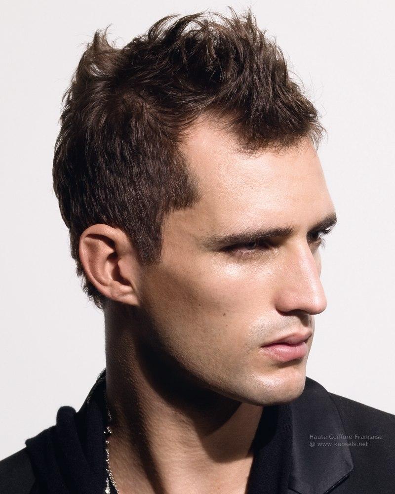 men haircut big forehead