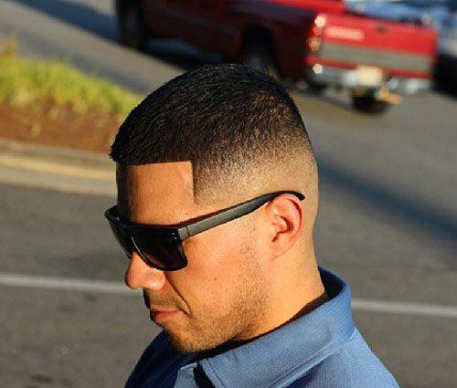 fade haircut white