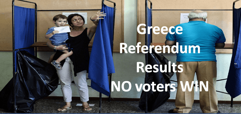 Greece voted NO - LIVE