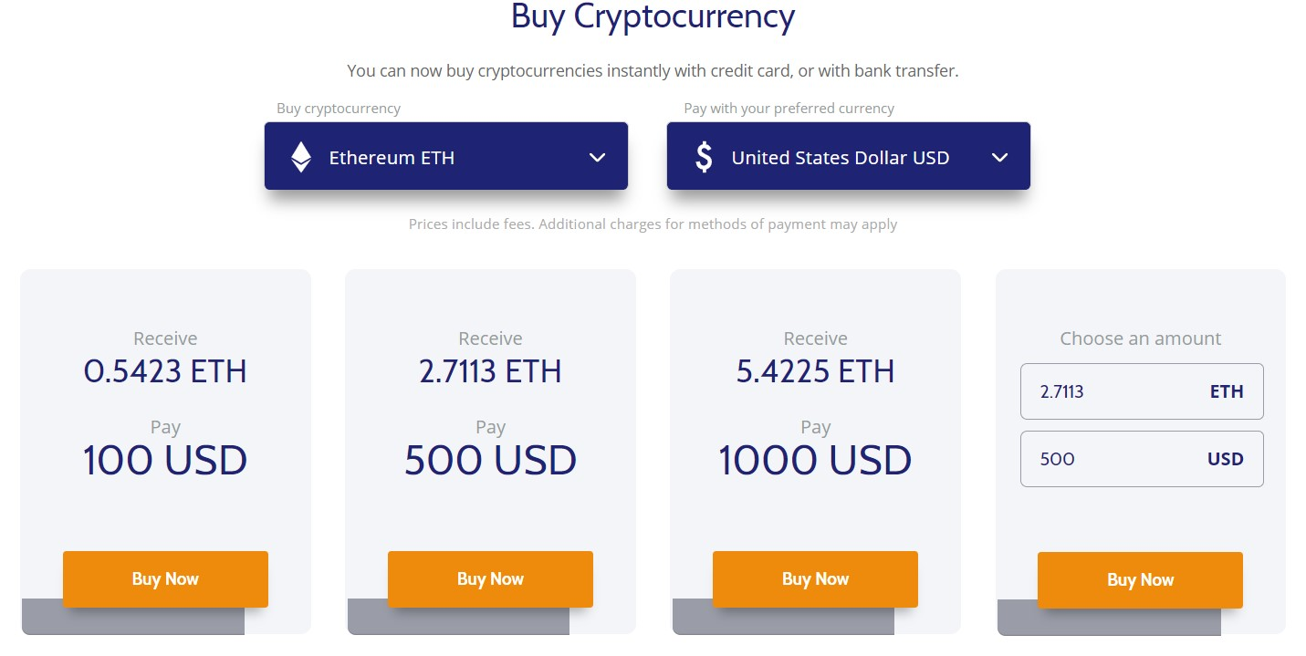 buy eth with card