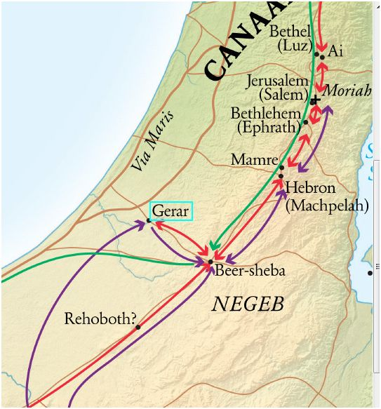 map of gerar and beersheba www.atozmomm.com