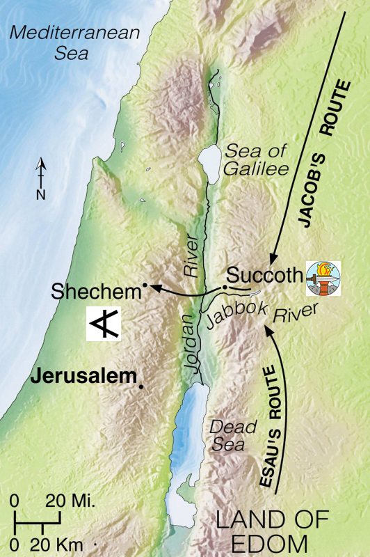 map of Shechem www.atozmomm.com Genesis 34
