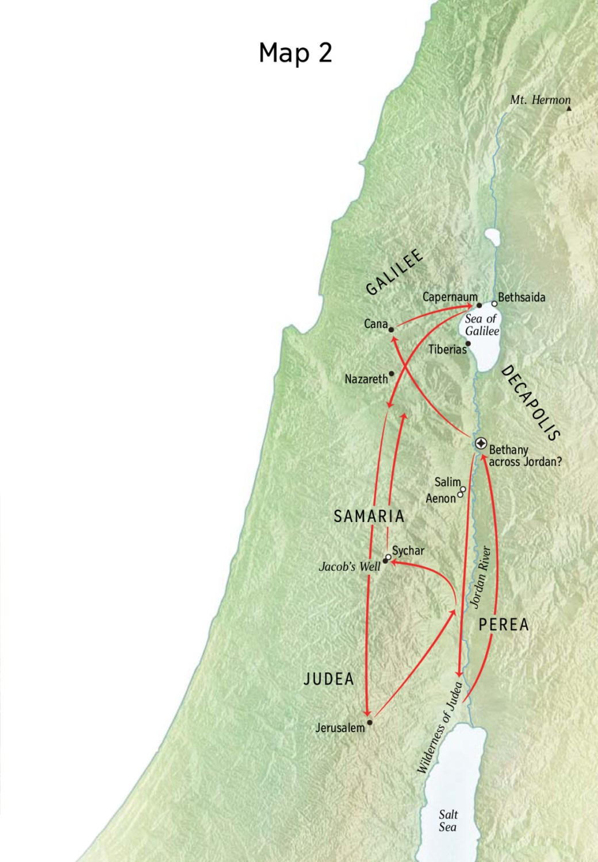 map of beginning of Jesus's ministry www.atozmomm.com