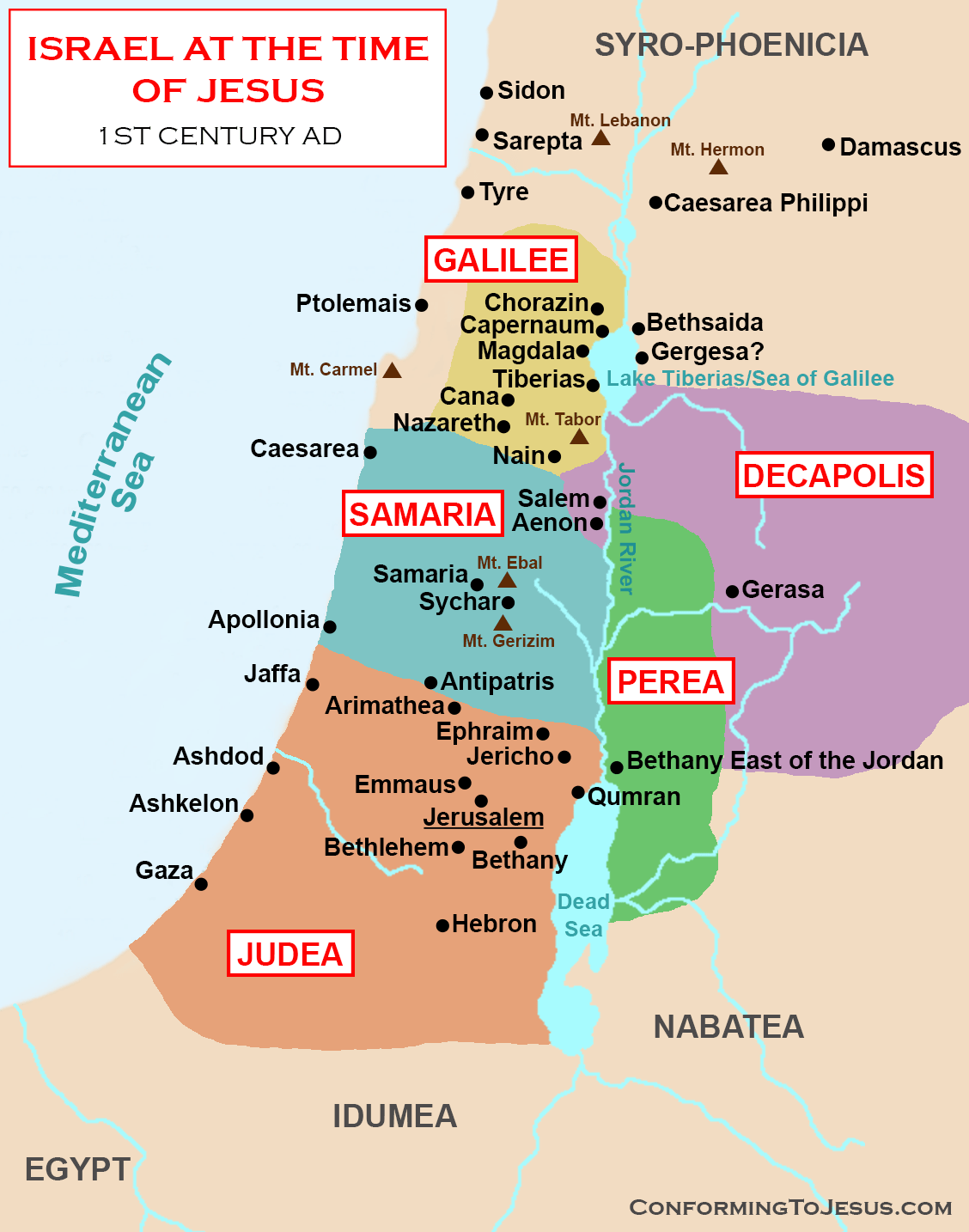 map of israel at the time of jesus www.atozmomm.com bsf matthew study