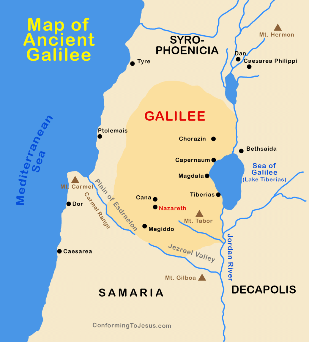 map of ancient galilee and egypt www.atozomm.com