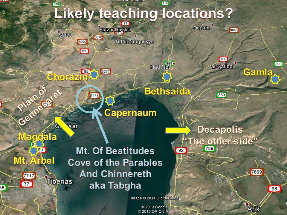 map of sermon on the mount where Jesus gave beatitudes