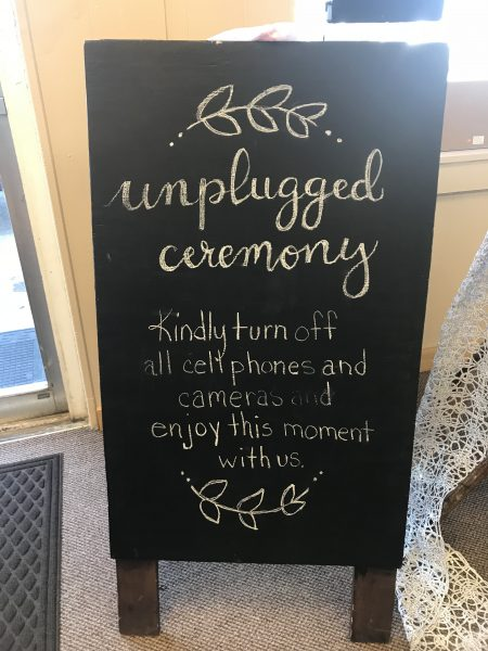 signs and chalk boards