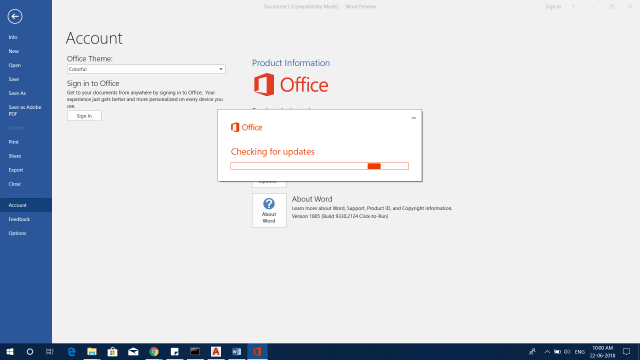 Microsoft Office 2019 Download And Install Office 2019 Preview 16.0.10228.20062 16