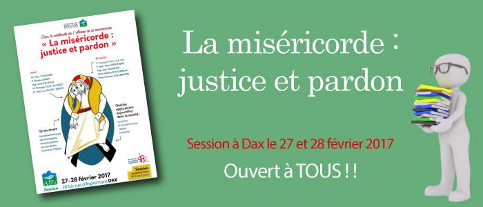 Session sur la miséricorde à Dax le 27 et 28 février 2017 !