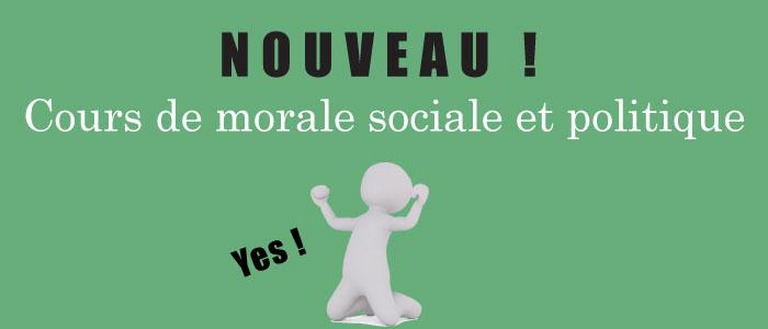 Cours de morale sociale et politique à Pau !
