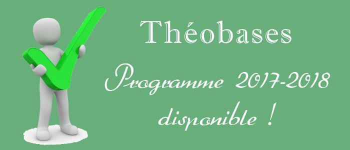 Théobases : le calendrier des cours est disponible !