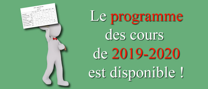 Agenda 2019-2020 disponible !