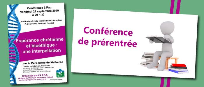 Conférence de prérentrée de l'ATPA – 27 septembre 2019