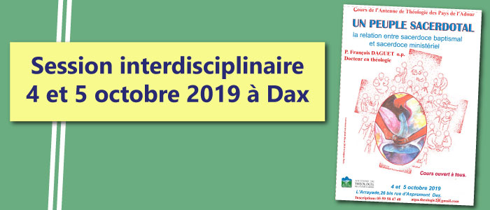 Session interdisciplinaire : 4 et 5 octobre 2019 à Dax