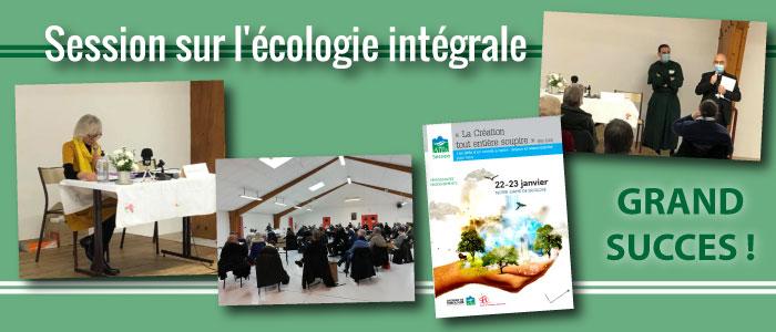 Session sur l'écologie intégrale : grand succès !