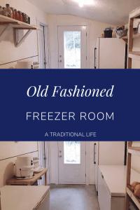 Take a walk through an old fashioned freezer room!