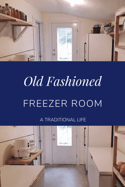Take a walk through an old fashioned freezer room!
