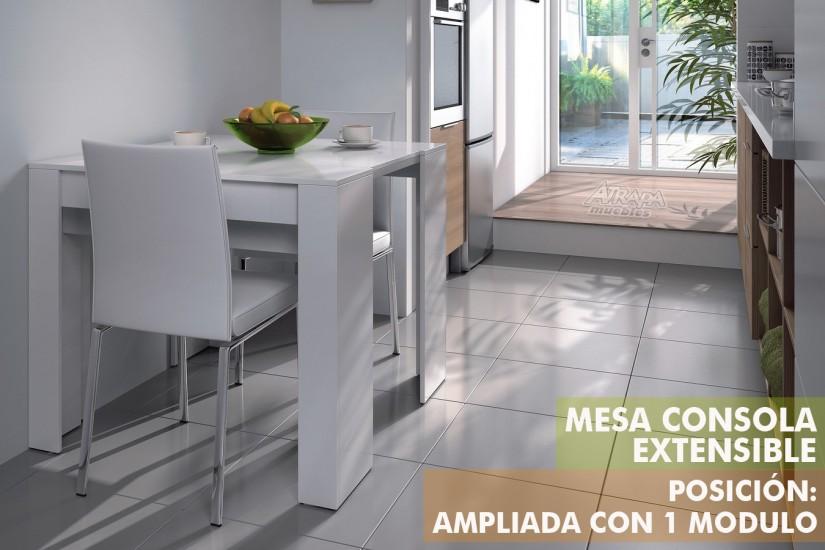 Mesa Consola Extensible Barata | Bombonera De Cristal