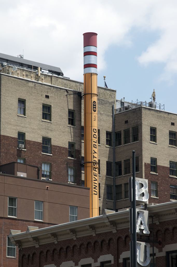 No. 2 Pencil Smokestack in Denver, Colorado