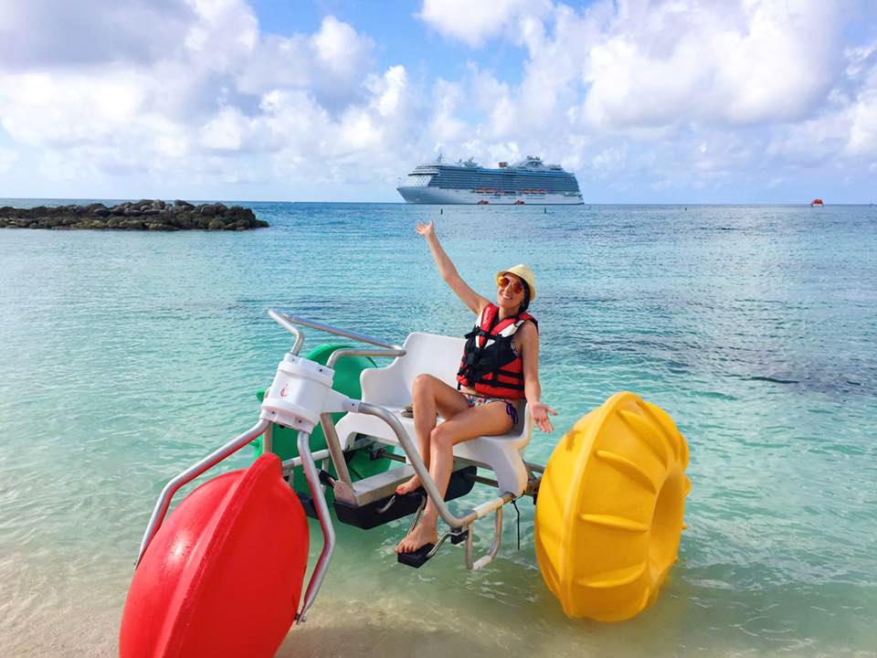 Joy Sheehan in the Caribbean