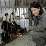 Natalie at the Bifengxia Panda Reserve