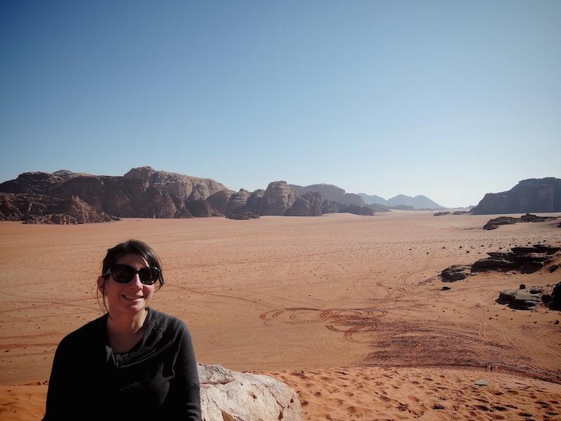 Kristin in Wadi Rum in Jordan