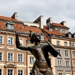 Mermaid Statue in Warsaw, Poland