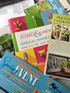 Garden show materials