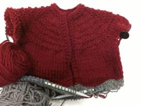 The Pretty in Burgundy or Little Boy Burgundy Baby Sweater