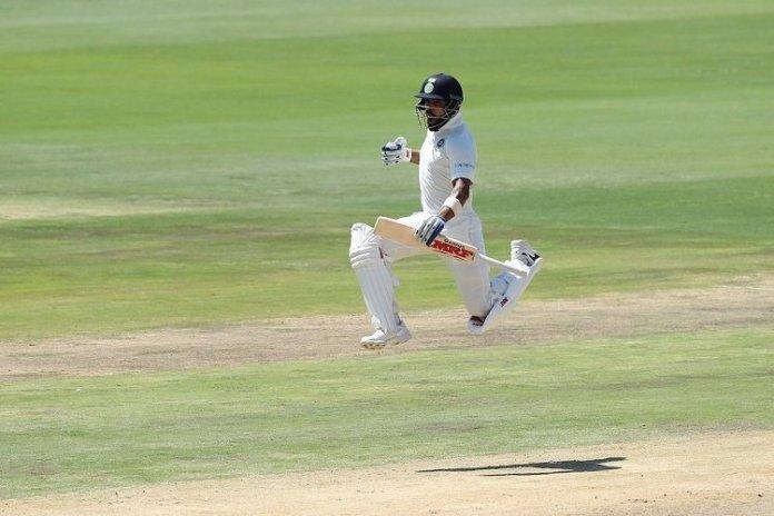 Kohli Celebrating After 100