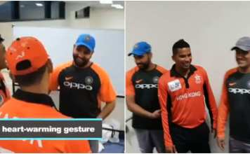 Indian Players visited Hong Kong Dressing Room