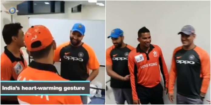 Indian Players visited Hong Kong Dressing Room
