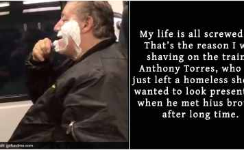 Man trolled heavily for shaving on train only to ind out he was homeless and to apologize later