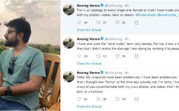 Anurag Verma From HuffPost India Apologies For Sexually Harassing