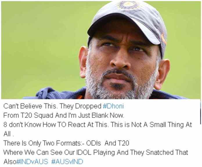Dhoni Axed From T20's