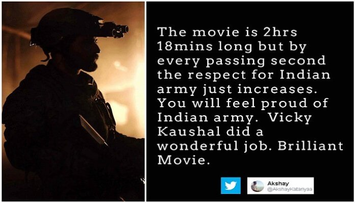 Twitter Reviews 'Uri: The Surgical Strike'