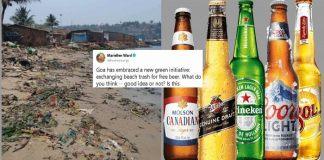 Get free beer in exchange of garbage